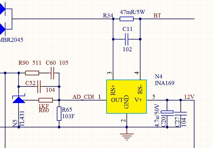 高端电流检测芯片ina169的问题-电源网